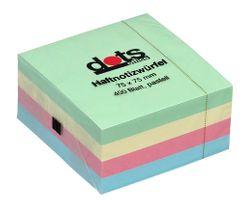 Haftnotizen 75x75mm Pastell 400 Blatt
