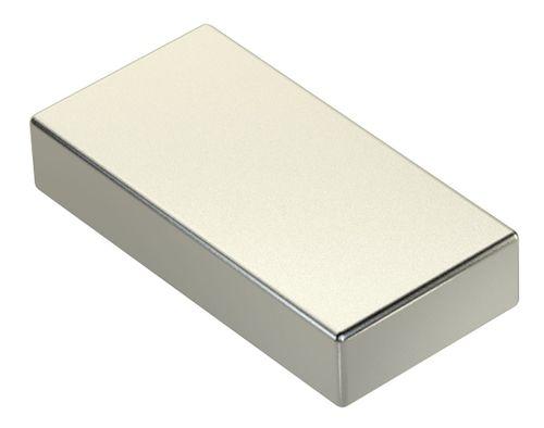 Neodym Power Magnet 50x25x10mm N45 80Kg 1stk.