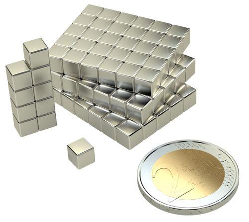 NEODYM MAGNET QUADER 5x5x5mm N45 1,6Kg 100stk – Bild 2