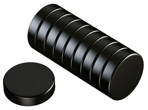 Neodym Power Magnete 20x5mm N52 23Kg 10stk. schwarz