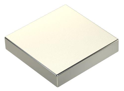Super Magnet Neodym 50x50x10mm 25cm³ 160Kg Kraft silber