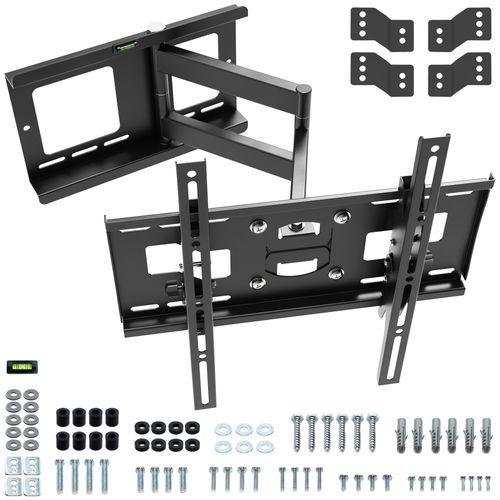 """Wandhalterung TV Schwenkbar Neigbar R33 Universal LCD Wandhalter Fernseher Halterung für Curved 4K OLED LED Fernsehhalterung 81cm/32""""- 140cm/55"""" Zoll VESA 200x200 500x400 / Schwarz"""