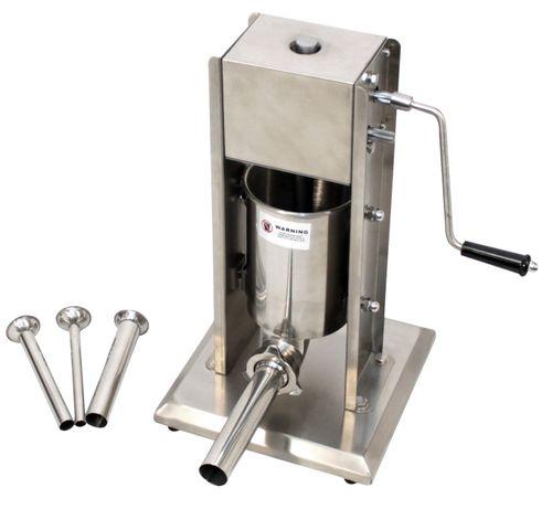 Wurstfüllmaschine 3 Liter 2-Gang 4 Füll-Rohre RWH-03