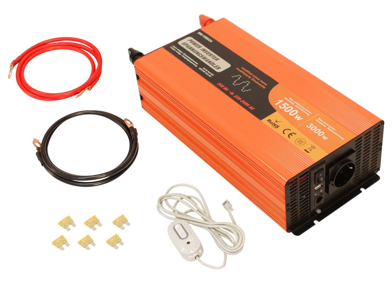 Spannungswandler 24v 230v 1500w-3000w Inverter | SW-1500/24 10627