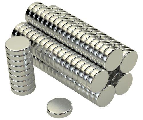 Scheiben Magnete 8x2mm N45 1,5Kg 100stk.