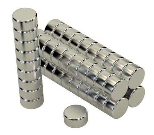 Magnet Set 50 Stück á 10x5mm 4,1Kg Neodym N45