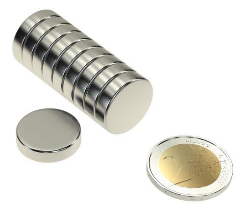Mini Magnete Scheiben 10stk. 20x5mm N45 ziehen je 18Kg
