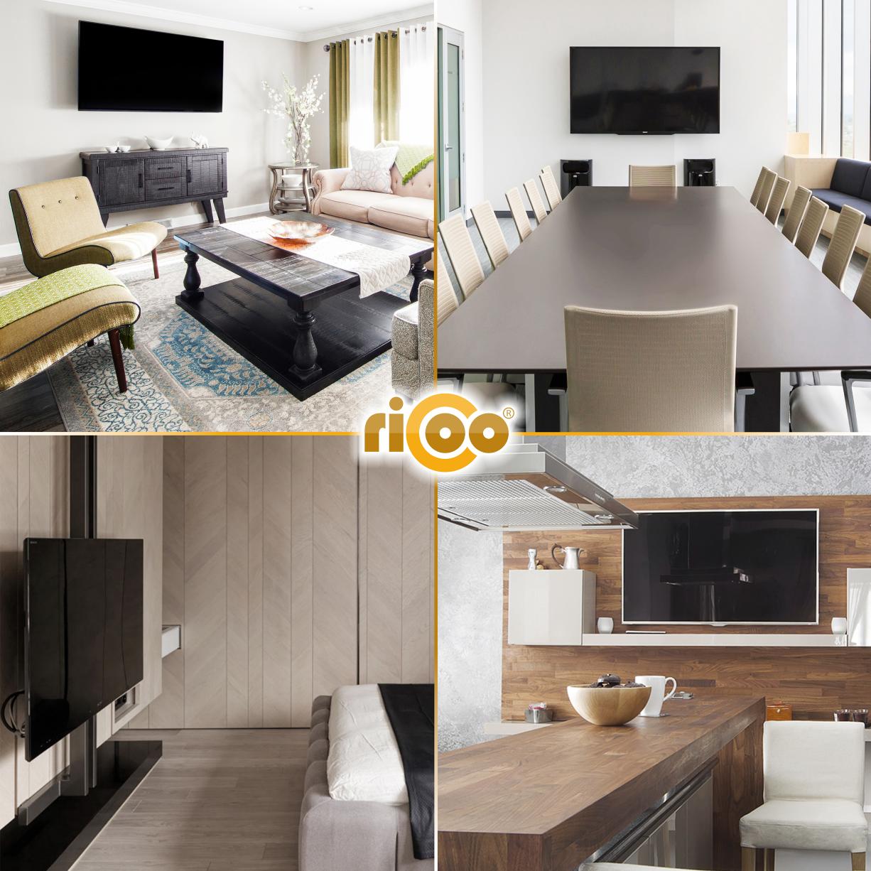 ricoo wandhalterung tv schwenkbar neigbar s1844 universal lcd wandhalter ausziehbar fernseher. Black Bedroom Furniture Sets. Home Design Ideas