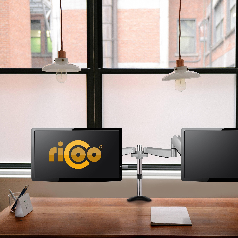 Ricoo Monitor Tischhalterung Für 2 Monitore Ts3111 Monitorhalterung