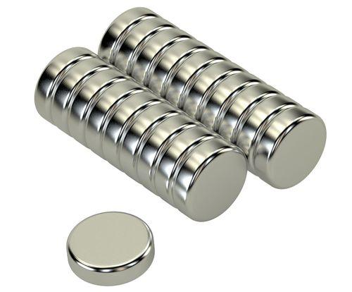 Scheiben Magnete Neodym 10x3mm N35 2,5 Kg 20stk.