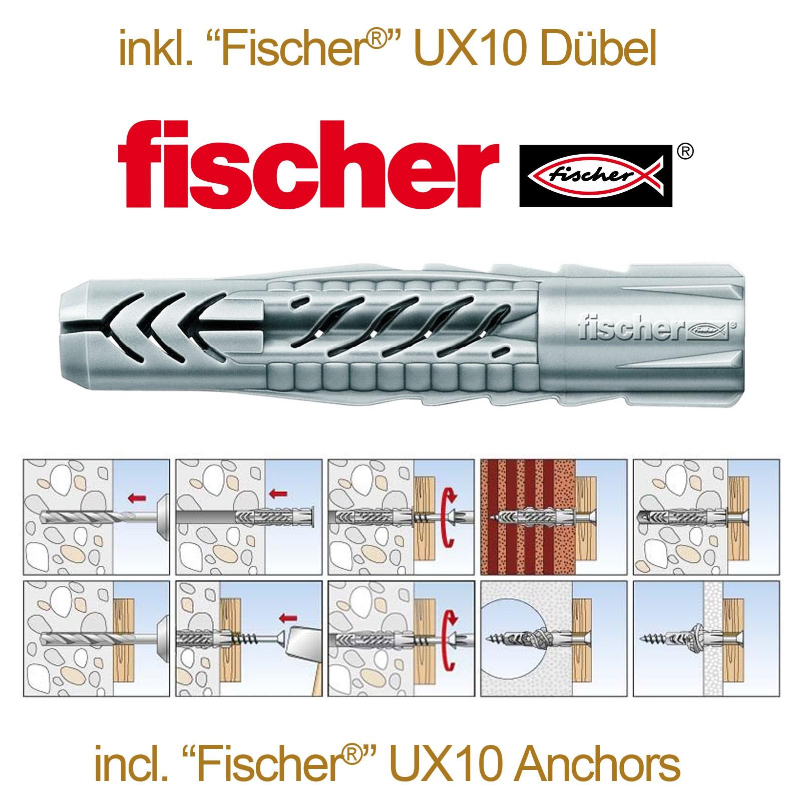 RICOO Schrauben Set TV Fernseher Halterung wahlweise mit Fischer®-UX10 SPZ0200