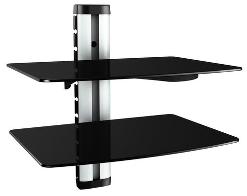 Hifi Regal DVD Wandhalterung Glas-Wandboard Glasregal XL