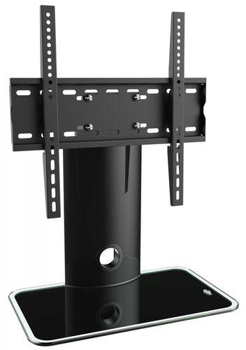 RICOO TV Ständer Standfuss Glas Standfuß LCD Fernseher Stand FS303 Fernsehtisch Halterung Fernsehstand LED Flachbildschirm Aufsatz Möbel Rack VESA 400x400 Universal / inkl Kabelführung