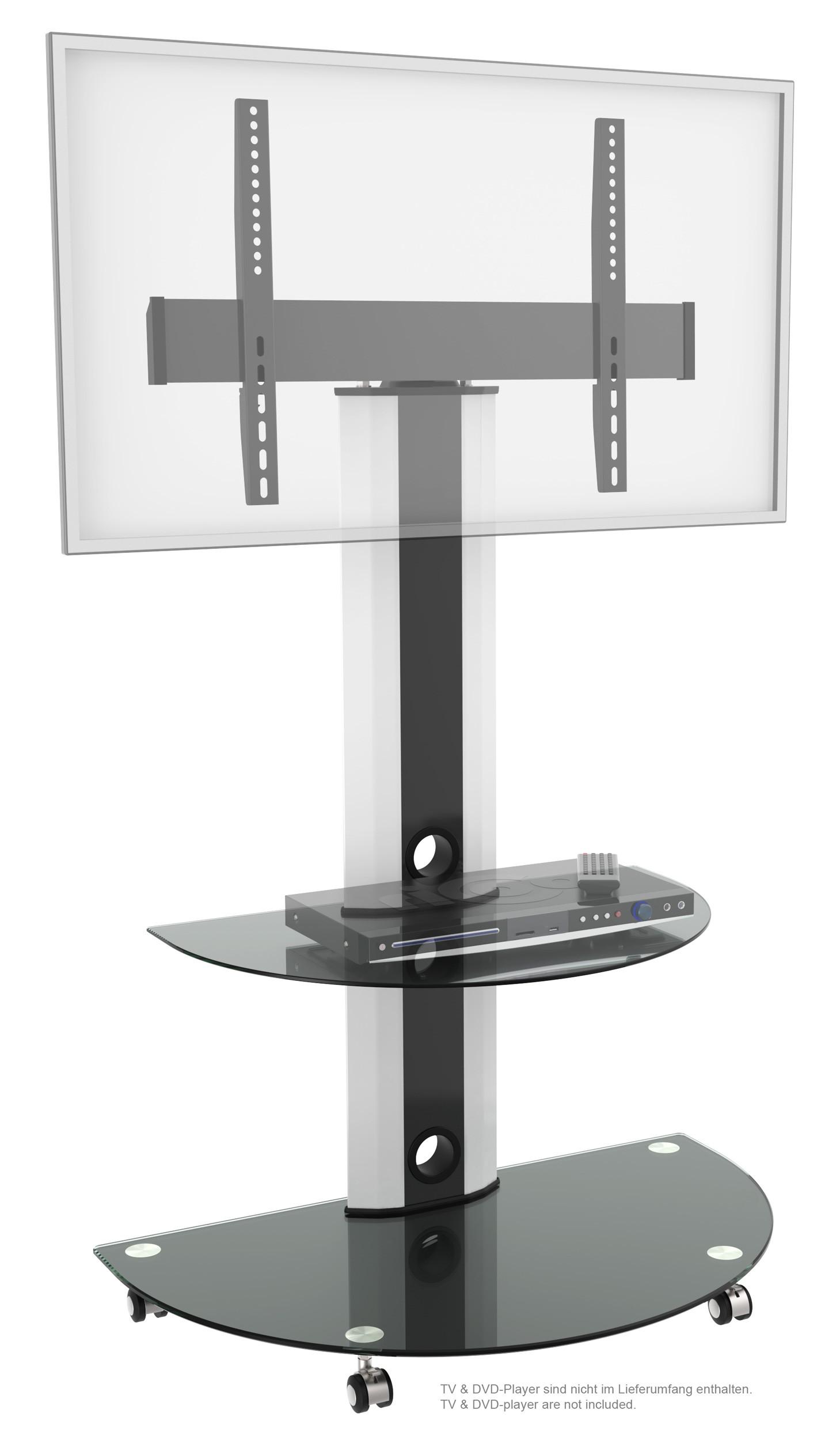 TV Stand modern und schwenkbar mit Glas-Ablagen FS0502 11185