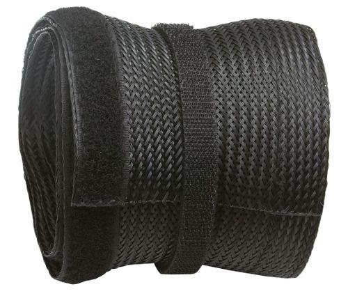 Universal Kabelschlauch aus Polyester mit Klettverschluss Farbwahl ver. Längen Kabelführung dehnbar | Z9