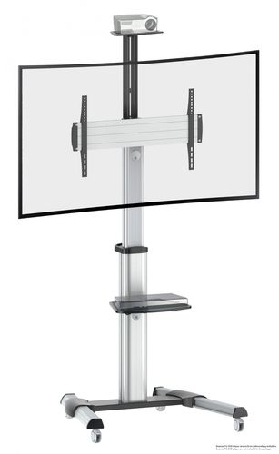 Standfuss neigbar TV Ständer drehbar mit Rollen höhenverstellbar FS0464