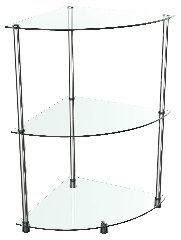 Eckregal WM501 mit Glas-Ablagen | Glasregal