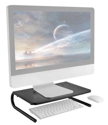 RICOO Monitor TV Laptop Metall-Stand Aufsatz Ständer schwarz stabil FS082