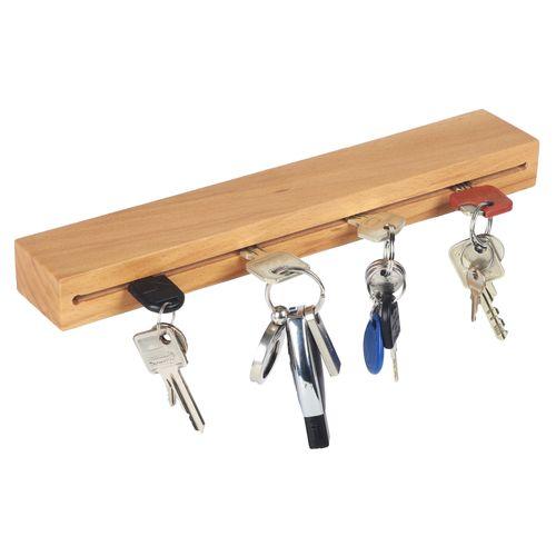 Schlüsselbrett Halterung für Schlüssel massiv Holz 30cm breit SH43
