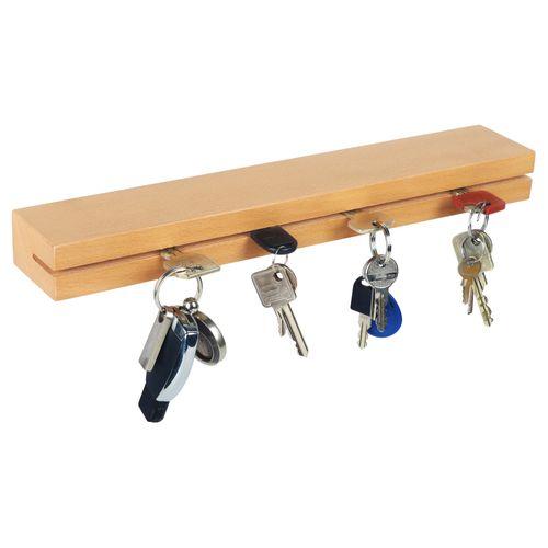 RICOO Halterung für Schlüssel massiv Holz Schlüsselbrett 35cm breit SH44
