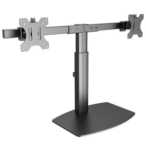 Monitor Standfuß mit Gasdruckfeder für 2 Bildschirme TS4111