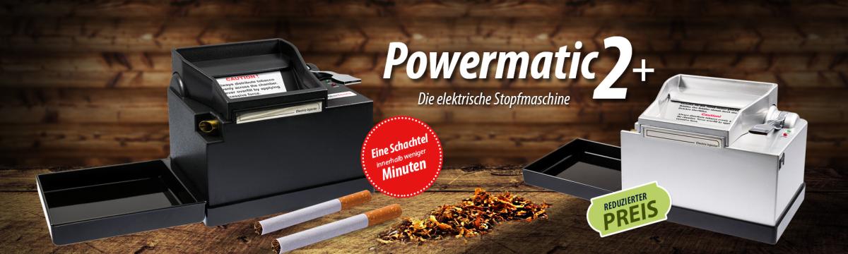 Powermatic 2+ - elektrische Zigarettenstopfmaschine