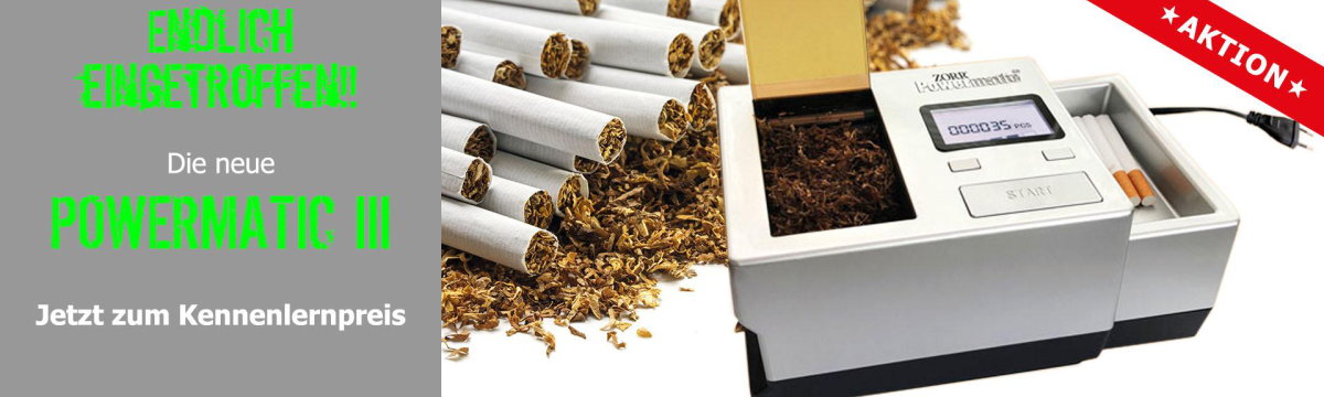 Powermatic 3+ - the new Generation - elektrische Zigarettenstopfmaschine  - sofort lieferbar