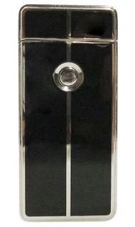 Tycoon Arc Lighter Cross USB Feuerzeug chrom wahlweise mit oder Gravur Initialen unten links