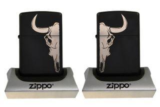 Zippo Black Matte inkl. Gravur silber - Ein echter Hingucker – Bild 3