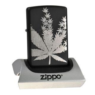 Zippo Black Matte inkl. Gravur silber - Ein echter Hingucker – Bild 2