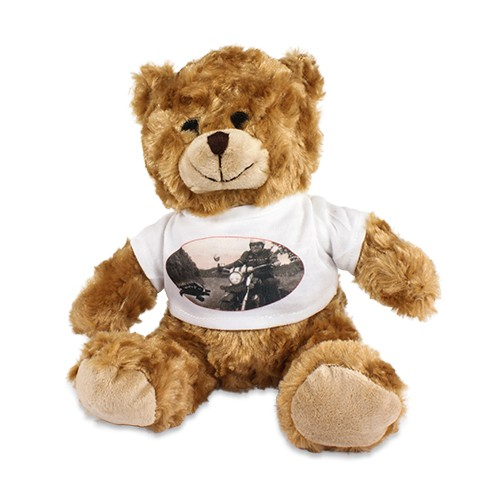 pl sch teddy tim mit individuell bedrucktem t shirt foto logo bild sitzh he ca 200 mm mit. Black Bedroom Furniture Sets. Home Design Ideas