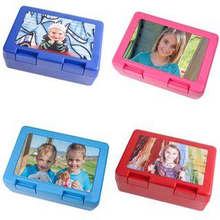 Brotzeitdose Lunchbox mit individuell bedruckter Platte - Text Foto Logo Bild  – Bild 1