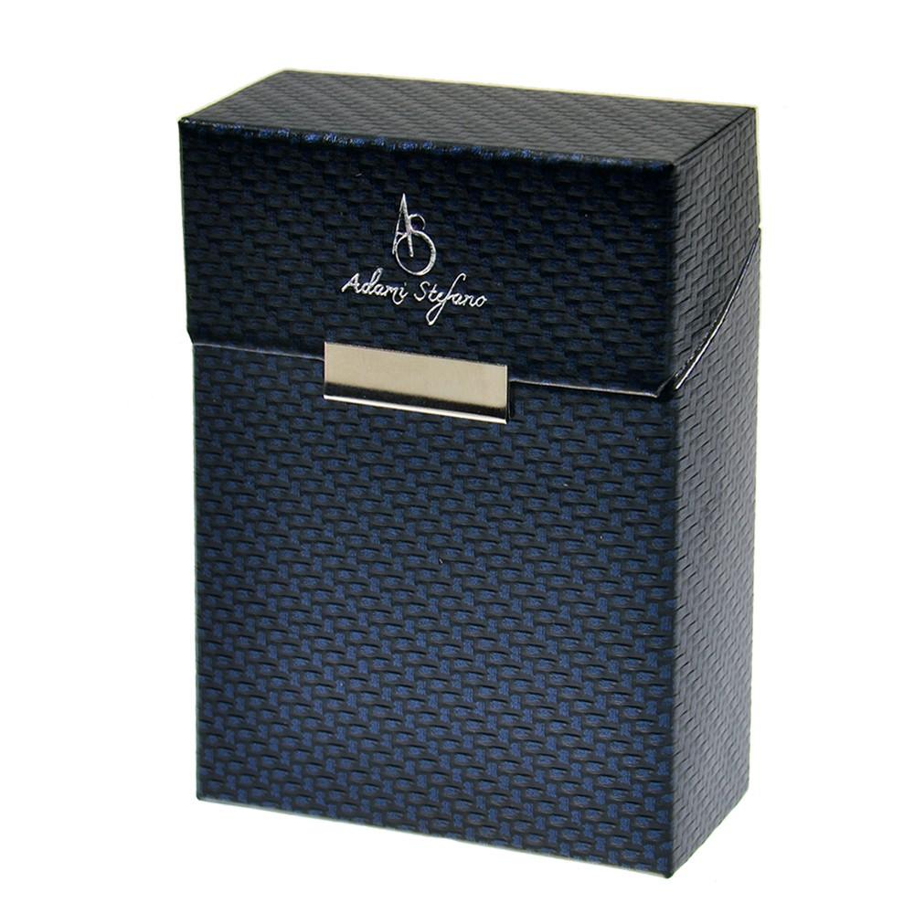 Zigarettenbox der Extraklasse - Carbon X blue silver BIG BOX - stylebox by Adami Stefano