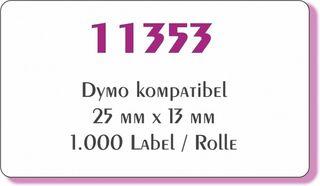 Label kompatibel  zu Dymo 11353 25 x 13 mm 1000 Label Etiketten pro Rolle