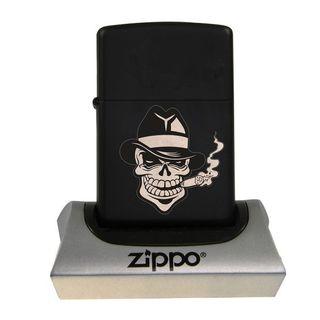 Zippo Black Matte Skull smoker