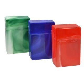 50 Stk.  Zigarettenboxen ohne Steg marmoriert farblich sortiert - für eine normale Zigarettenschachtel