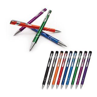 18 Metall - Kugelschreiber VENEZIA - Farben Gemischt  – Bild 1