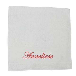Premium Handtuch Duschtuch Saunatuch Porto aus Frottee, 500 g bestickt mit Namen – Bild 4