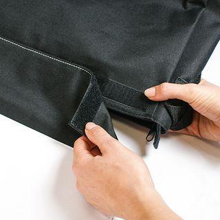 Schultertasche REPORTER mit wechselbarer Frontlasche, Farbe Schwarz, Größe (BxHxT) 380 x 280 x 80 mm – Bild 2
