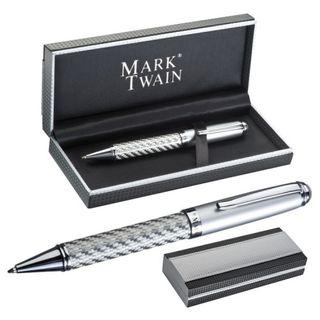 Exklusiver Kugelschreiber im Carbon Design von Mark Twain