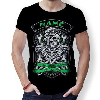 creativgravur® T-Shirt - Name oder Papa Skull Mythos Legende Vatertag Totenkopf – Bild 5