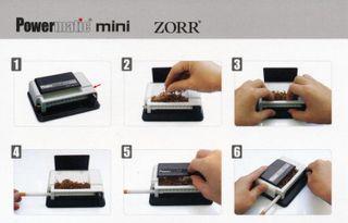 Powermatic Mini Black & White + 6 x Zigaretten Big Box ohne Steg marmoriert 25er – Bild 4