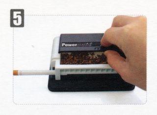 Powermatic Mini Black & White + 6 x Zigaretten Big Box ohne Steg marmoriert 25er – Bild 9