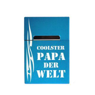 Alu Zigarettenbox mit Magnet mit Gravur Coolster Papa der Welt – Bild 3
