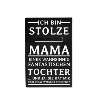 Alu Zigarettenbox mit Magnet mit Gravur für Beste Mama Tochter – Bild 1