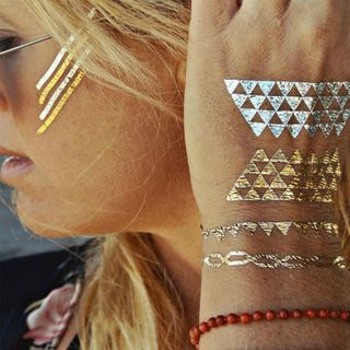 Temporäre Metallic Tattoos - 10er Mix - Der neue Trend aus den USA – Bild 5