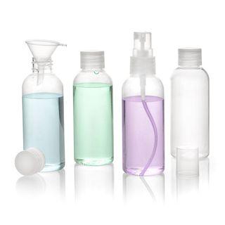 2in1 Kulturbeutel & Reiseflaschen Set [Flughafen Handgepäck] 4 Behälter, 1l Flüssigkeiten – Bild 2