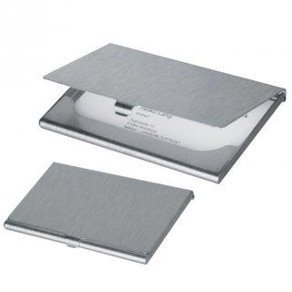 Visitenkartenetui Aluminium gebürstet wahlweise mit oder ohne Gravur – Bild 1