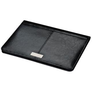 Bonded Leather A4 Schreibmappe mit Metallplättchen  – Bild 3