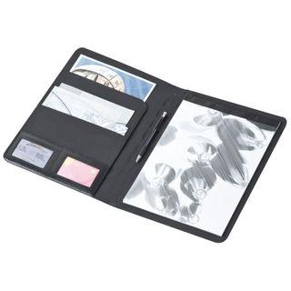Bonded Leather A4 Schreibmappe mit Metallplättchen  – Bild 2